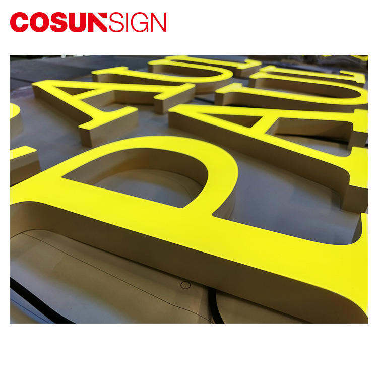 COSUN clear letter room sign holders for pub club