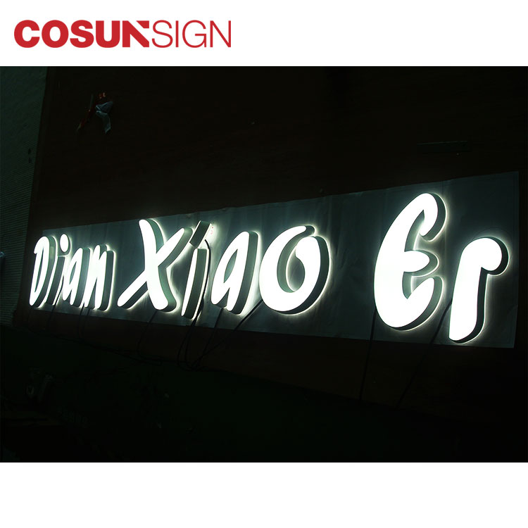 COSUN clear letter cheap business signs for restaurant-5