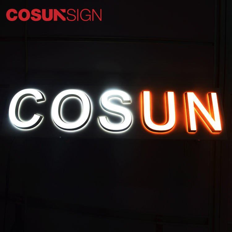 COSUN clear letter cheap business signs for restaurant