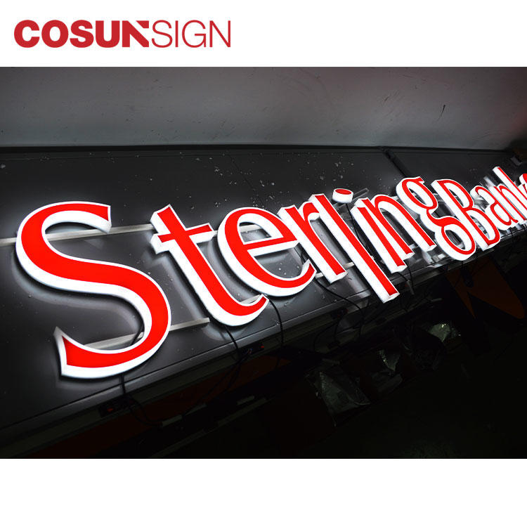 Acrylic Channel Letter Cosun Factory Price Customized Available