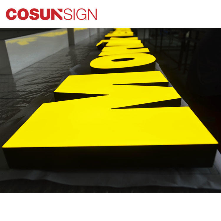 Acrylic Led Sign Display Cosun Diy Shop Front Supplier
