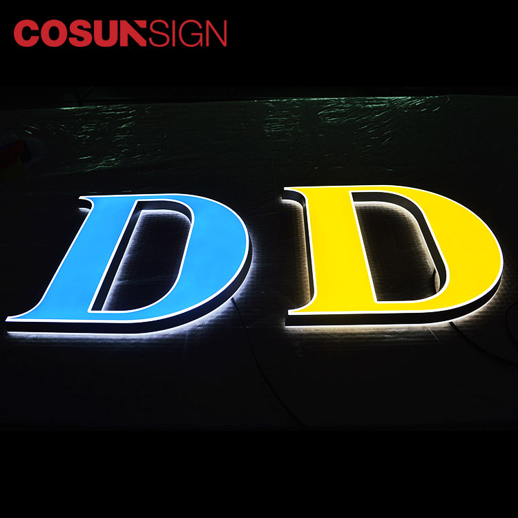 COSUN clear letter cheap business signs for restaurant-11