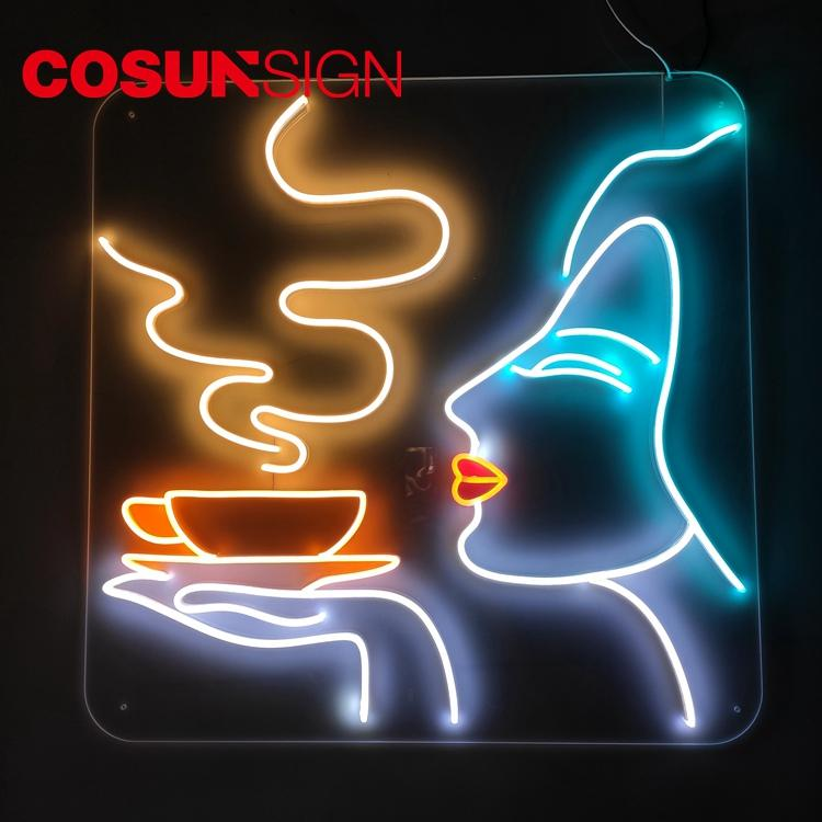 Cafe Neon Sign Cosun Ce Certified Suspend Customized Shape
