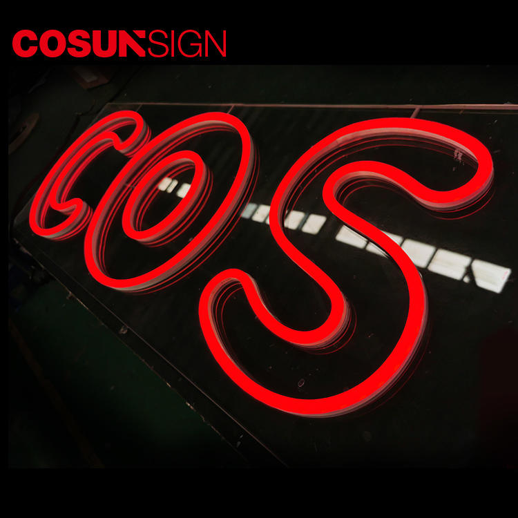 Outdoor Neon Sign Cosunsign Low Price Halo-Lit Illuminated 3D Illuminated