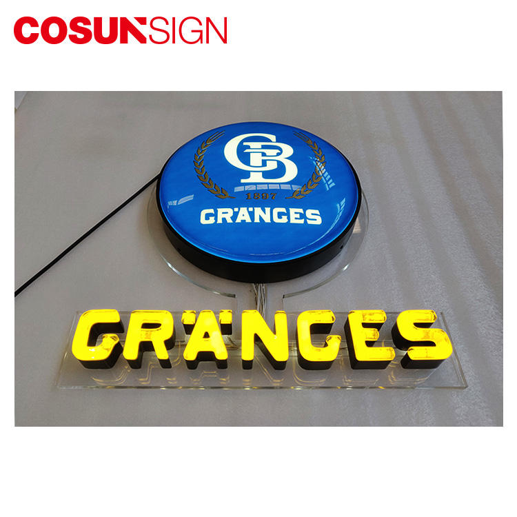 Neon Box Sign Cosun Factory Direct Sales Halo-Lit Illuminated