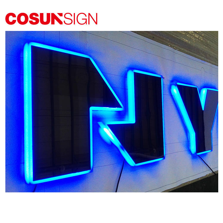 Led Edge-Lit Sign Cosun 3D Illuminated Custom Made Acrylic