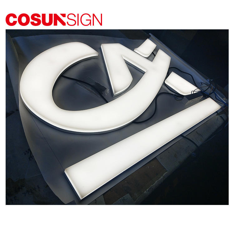 Acrylic Led Letter High Brightness Fashionable Advertising Flush Mount