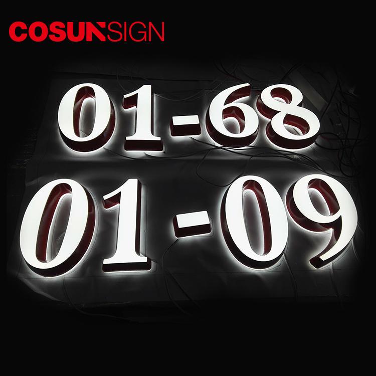 Acrylic Signage Cosun Custom Made Indoor Usage 3D Illuminated