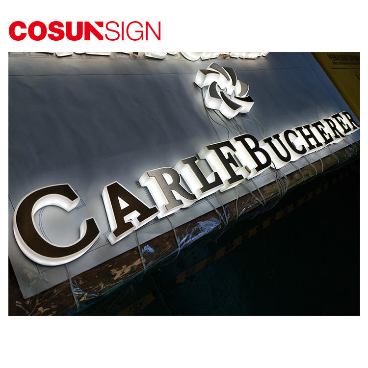 Acrylic Led Sign Boards Cosun Outdoor Electric Light Stainless Steel