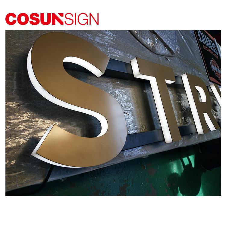 Led Backlit Acrylic Sign Cosun Indoor Usage Aluminum Custom