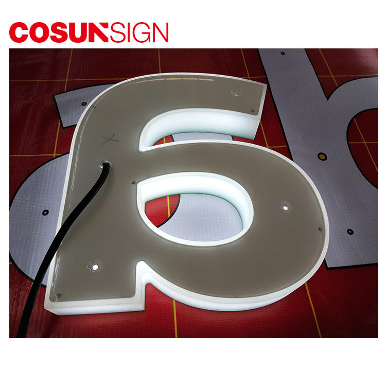 Acrylic Logo Sign Cosun Promotional Energy Saving Custom