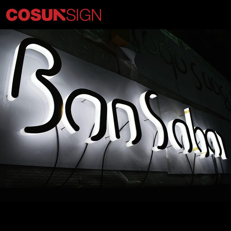 3D Acrylic Letter Sign Cosun 100% Achieve Large Capacity