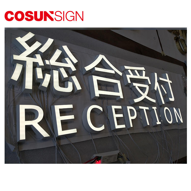 Large Acrylic Letter Cosun Ce Certified Suspend Indoor/Outdoor