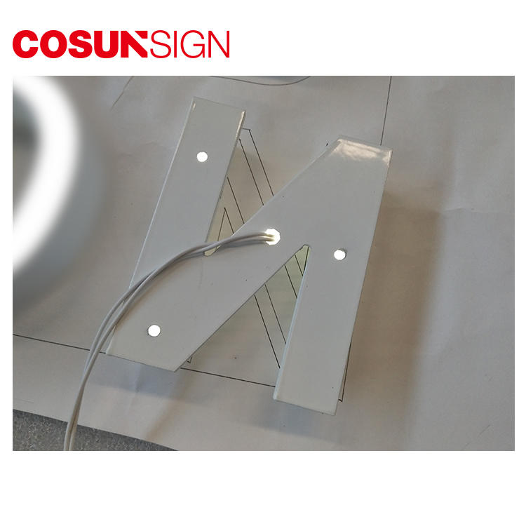 COSUN clear letter perspex plaque for restaurant