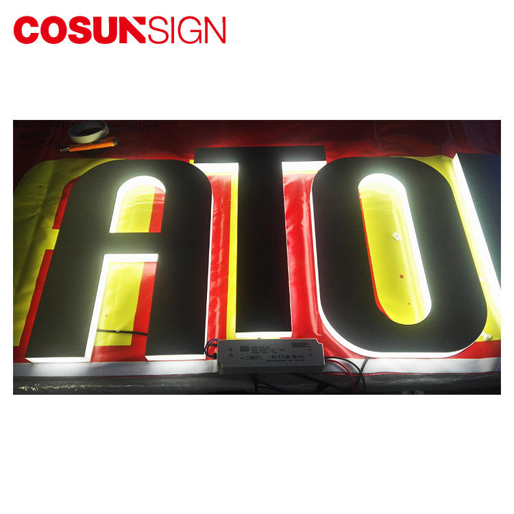 Acrylic Led Channel Letter Cosun Low Price Halo-Lit Illuminated Supplier