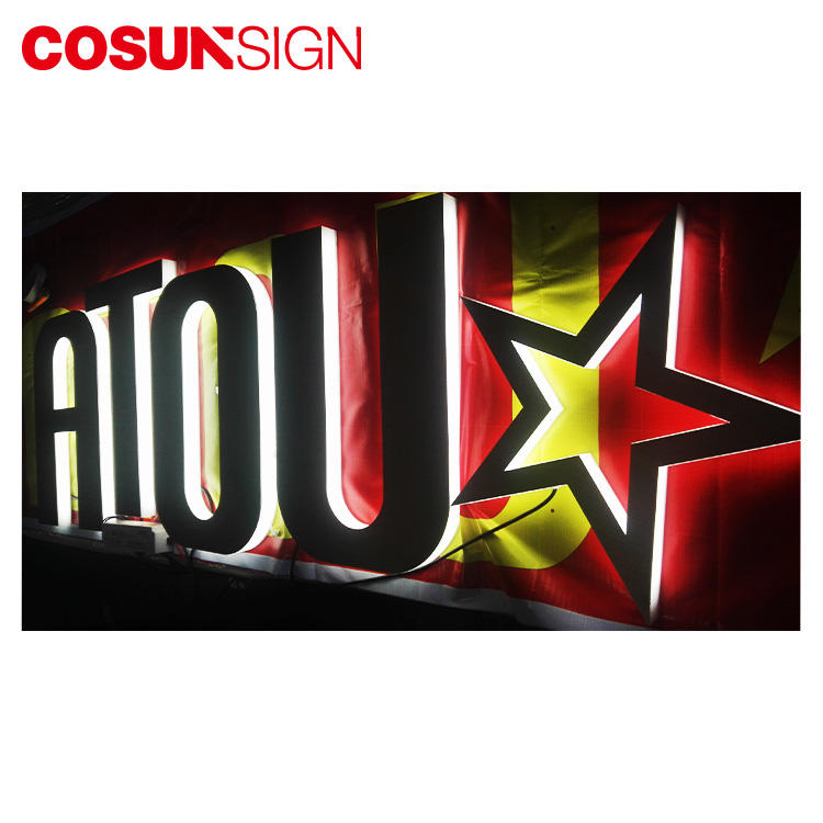 Clear 3D Acrylic Letter Cosun Ul Certification Barber Shop