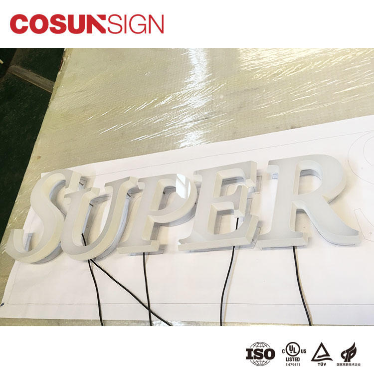 Custom wholesale acrylic signs led base Supply for restaurant