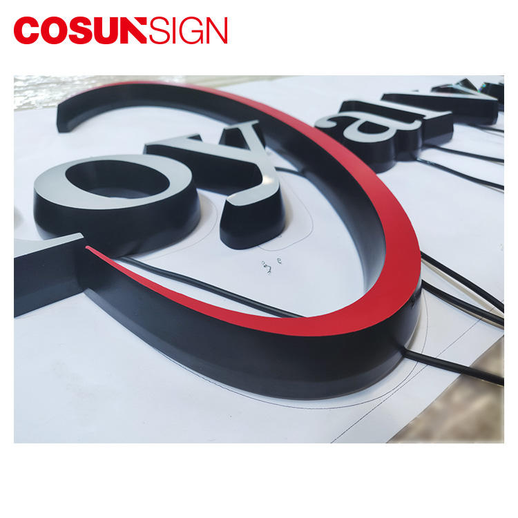 Acrylic Letter Sign Board Cosun 100% Achieve Customized Shape Led