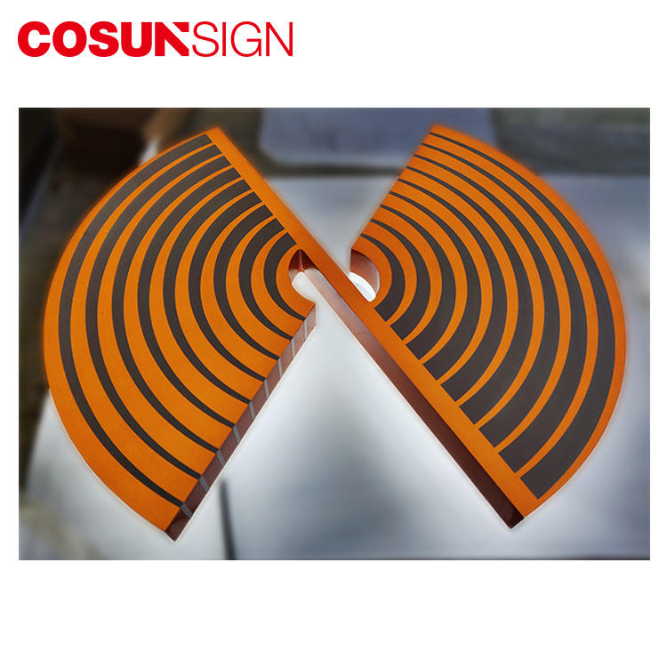 3D Acrylic Sign Cosun Factory Direct Sales Halo-Lit Illuminated