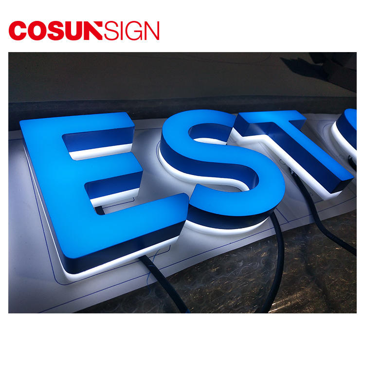 Acrylic Letter 3D Cosun Competitive Price Illuminate Manufacturer