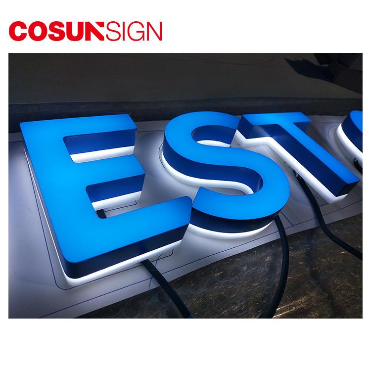 Acrylic Letter 3D Cosun Competitive Price Illuminate Manufacturer