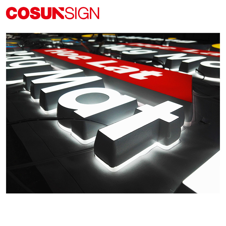 COSUN clear letter illuminated plexiglass sign for business for restaurant-2