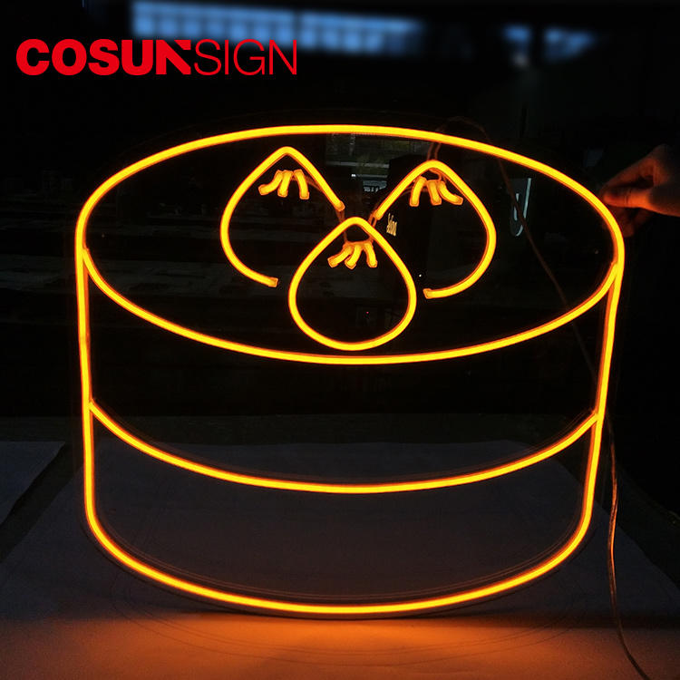 Neon Glass Sign Cosun Sign Top Quality Led Lights Advertising
