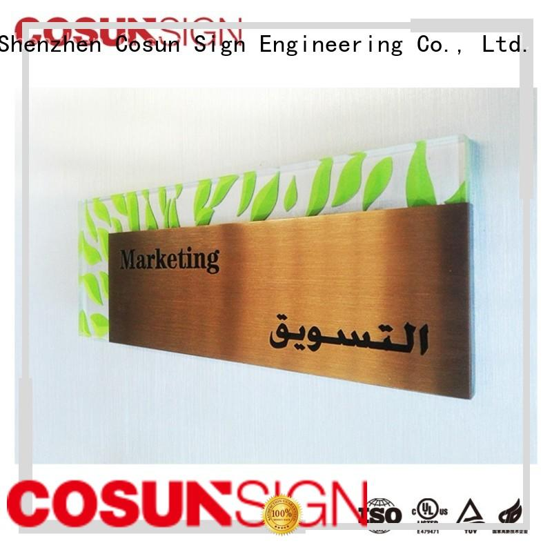 COSUN Custom door sign wood factory for warning