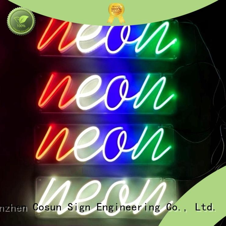 COSUN New led neon letters for business for warning