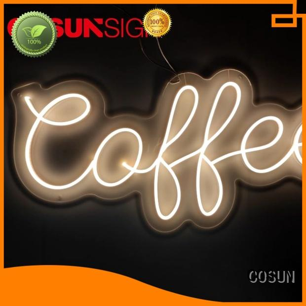 COSUN popular pizza neon sign manufacturers for restaurant