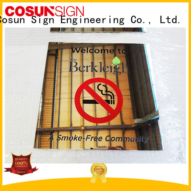 house number plate etched for toilet signage COSUN