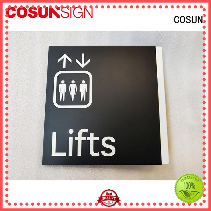 COSUN logo custom custom hanging door signs for business for decoration