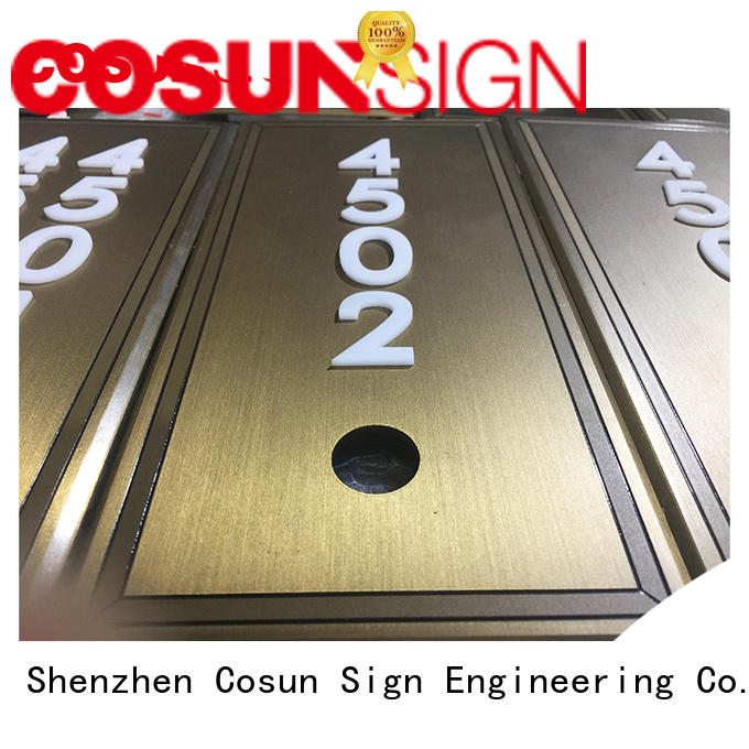 Custom engraved door plaques logo custom Supply for shop