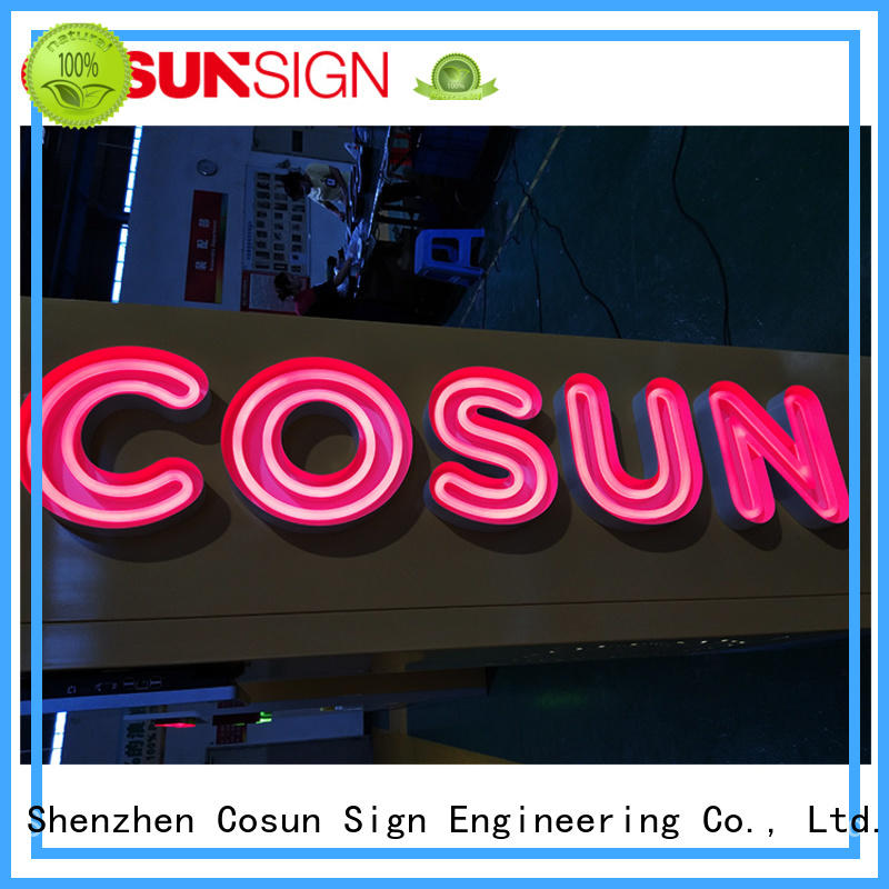 COSUN eye-catching neon sign shop Supply for warning