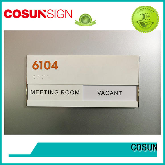COSUN paint meeting room door sign all size for wholesale