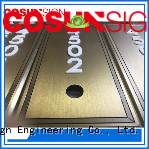 COSUN Best door signs perth factory for warning