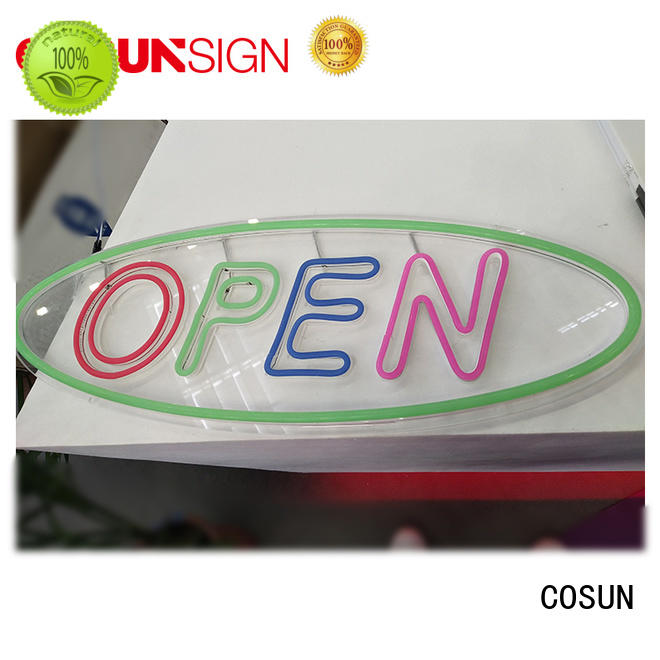 COSUN popular cool neon light signs Supply for warning