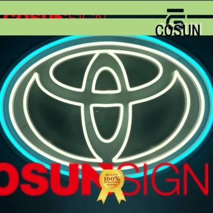 COSUN hot-sale illuminated outdoor signs company for promoting