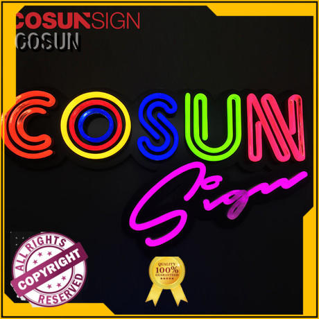 COSUN eye-catching the neon sign manufacturers check now