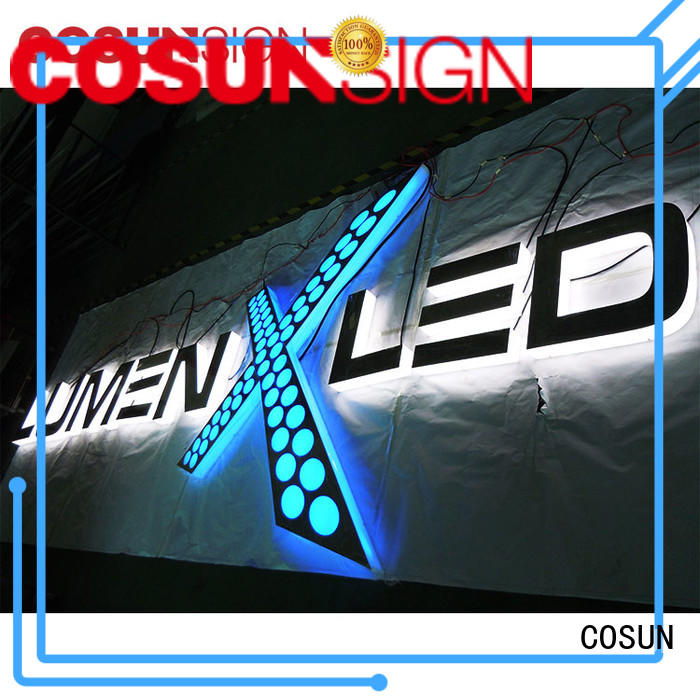 COSUN led base the sign holder wholesale for pub club