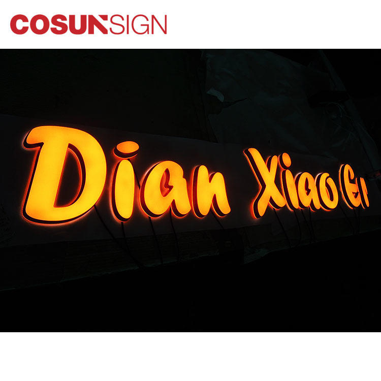 COSUN clear letter cheap business signs for restaurant-1