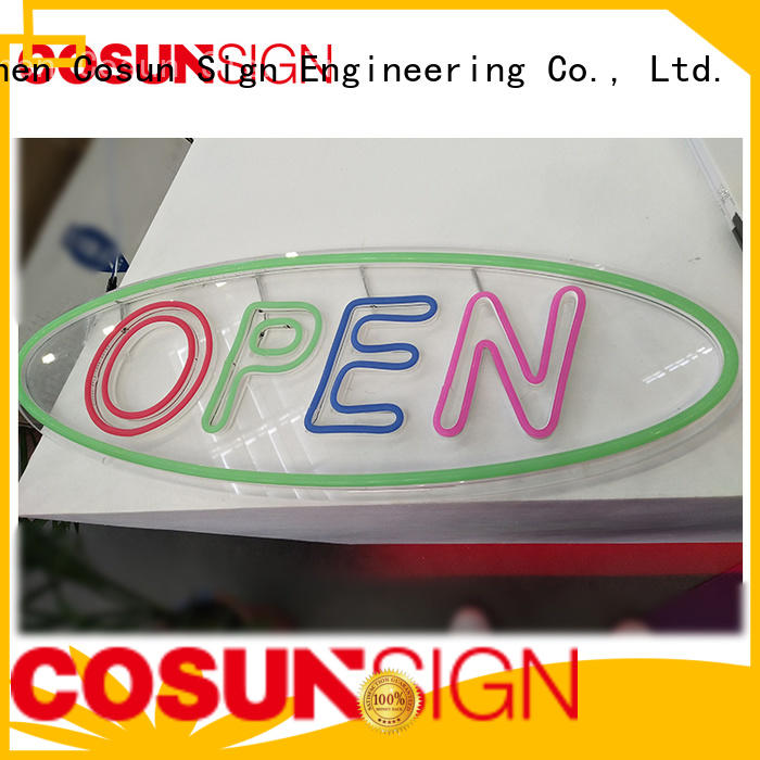 COSUN popular led channel letters company for hotel