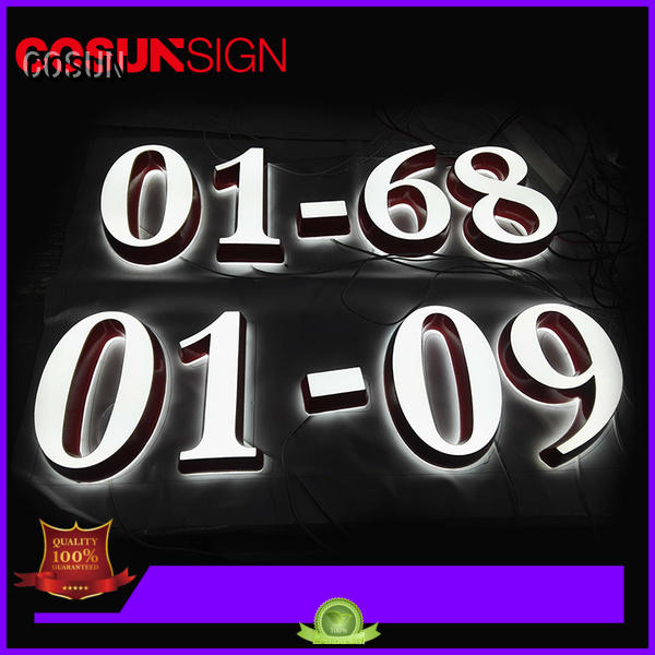 COSUN led base durable plastic signs Suppliers for restaurant