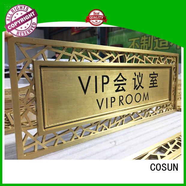 COSUN stainless steel buy door signs manufacturers for hotel