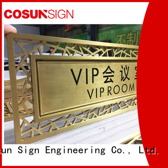 logo custom custom led signs indoor thermoforming for decoration COSUN