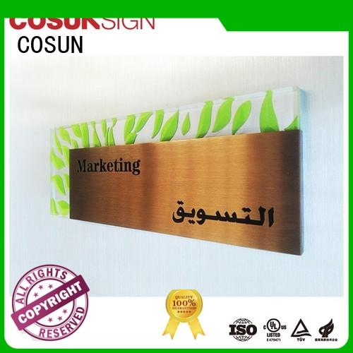 COSUN polishing banner signs for business manufacturers for hotel