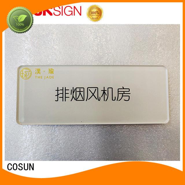 COSUN factory price office door signs thermoforming for door