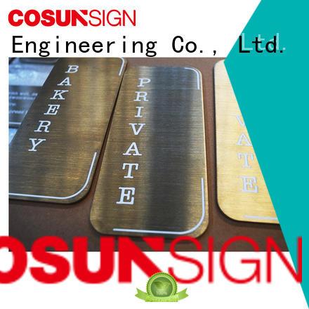Cosun Aluminum Brushing Blank Number Plate
