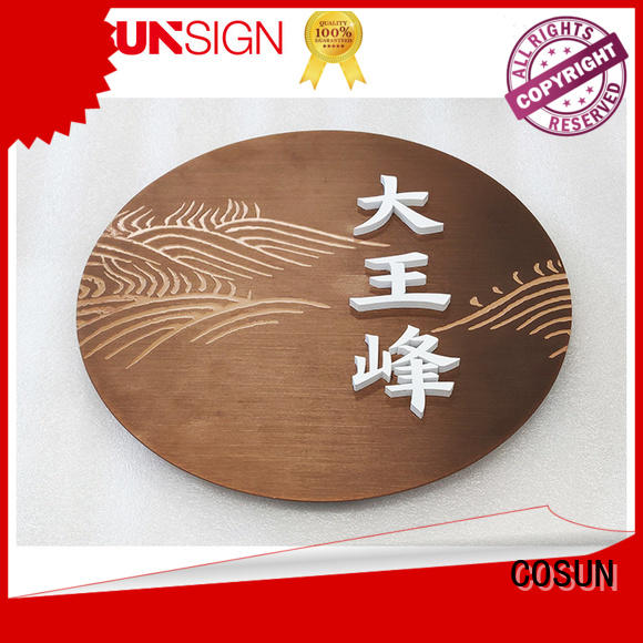 COSUN Best door signage design Suppliers for bar