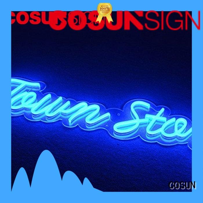 COSUN Wholesale light signs manufacturers for decoration